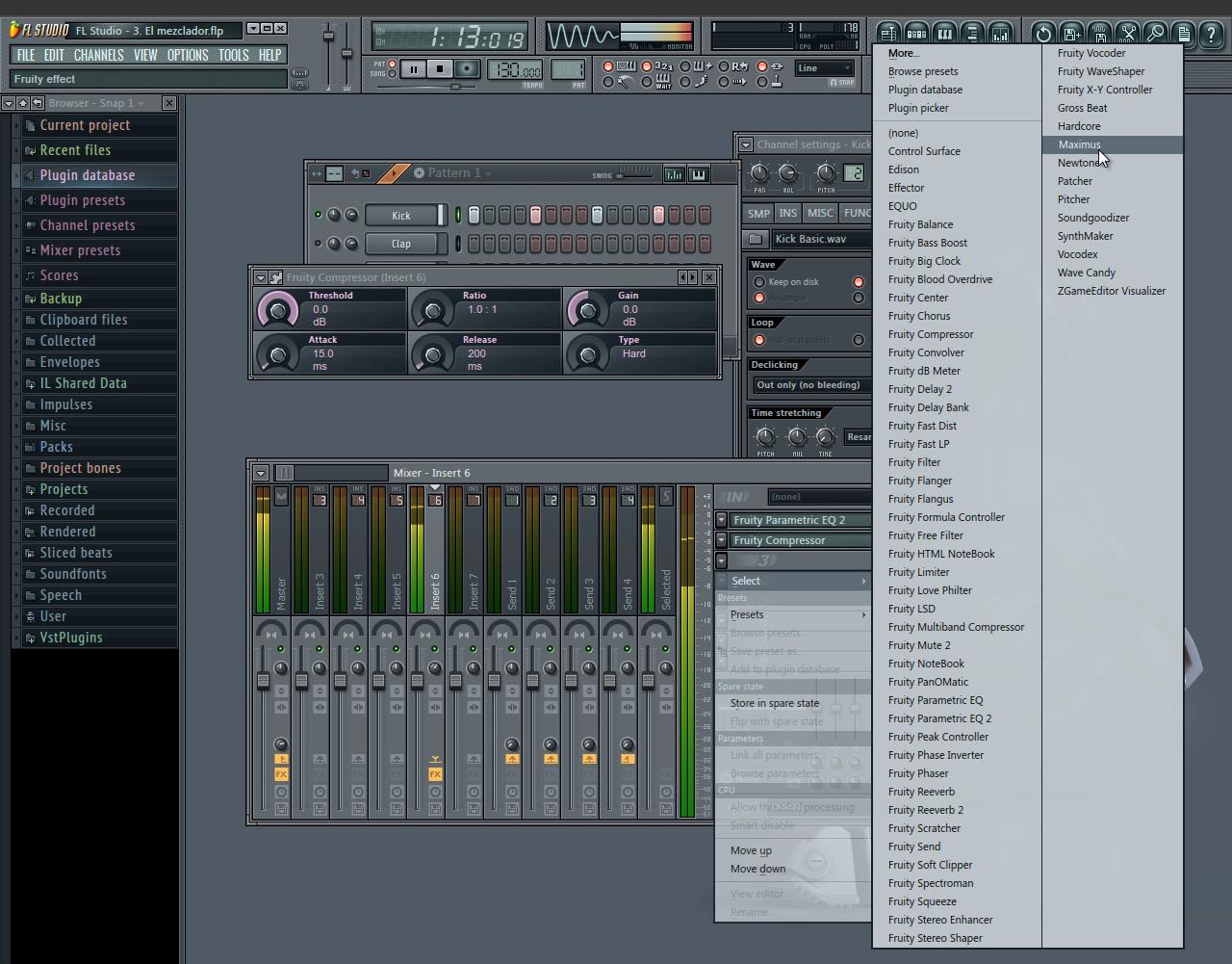 Tutorial FL Studio: El mezclador y los insertos
